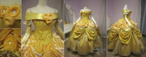 Belle Dress Disney Park Version by Lillyxandra