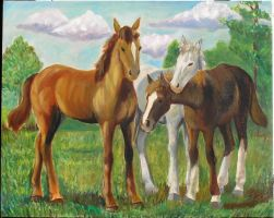 three horses by meihua