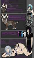 Isis and Iris reff sheet by Allixi
