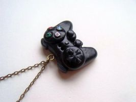 PS2/PS3 controller necklace by curry-brocoli