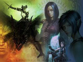 Wallpaper: Licia Troisi's Heroines by GothicBrokenBabe