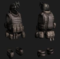 Combat vest sculpting by digitalinkrod