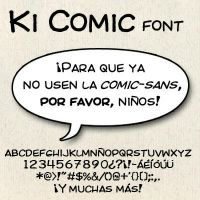 Ki Comic Font by Masklin8