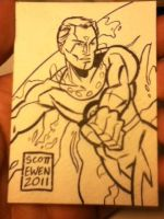 Miracle Man ATC inked by ScottEwen