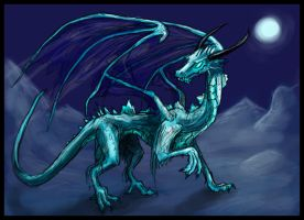Januarian Turquoise Dragon by Pseudolonewolf