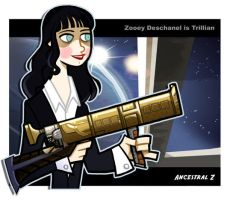 Trillian H2G2 Zooey deschannel by Ancestral-Z