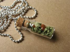 Good Vibes Herbal Necklace by SpellsNSpooks