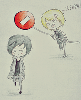 Izaya and Shizuo // Durarara by MissBillK