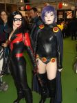 raven and nightwing cosplay by ptitcoton