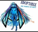 Adoptable [2] -blue morpho butterfly CLOSED by Fenrin-kun