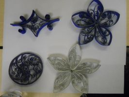 Paper towel/toilet paper roll ornaments 2011 by staceysmile