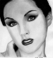 girl No 8 graphite by EwaBlackWidowVsHare