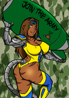[C / C] War pin-up: Goldess army! by tisinrei