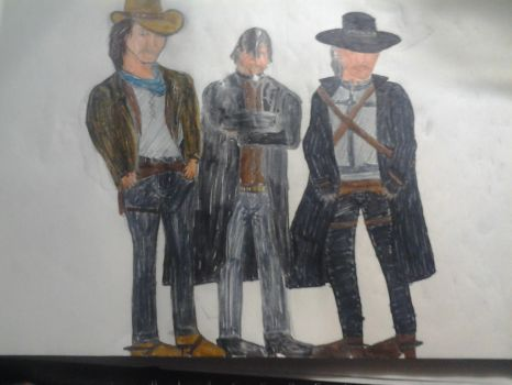 Call of Juarez: McCall brothers All (color) by warriorjane12