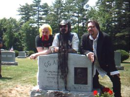 Murder Junkies at GG's grave by microchrist