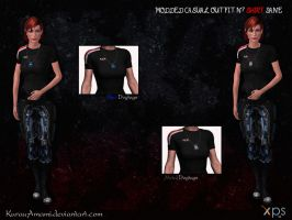 Mass Effect 3 - Modded Casual N7Shirt Jane for XPS by KurauAmami