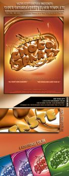 Chocolate Party Flyer Template by si-ajidz