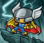 Chibi Thor by Dragoart