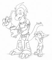 Sketch - Little Zech and Phineas by hunterbahamut