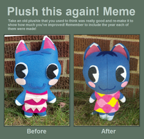 Before and After Animal Crossing Rosie by TashaAkaTachi