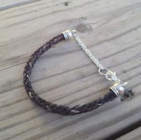 Braided Horsehair Bracelet - Salt and Pepper Gray by TarpanBeadworks