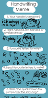 handwriting meme by ichadoggi