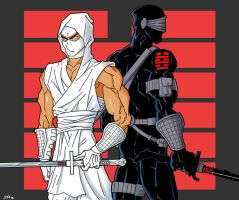 Storm Shadow and Snake Eyes by lusiphur