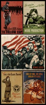 Captain America Propaganda Poster Collection by Paperflower86