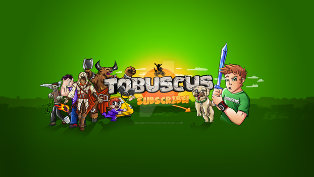 TOBUSCUS! New Youtube Background - OFFICIAL by FinsGraphics