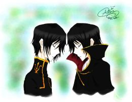 Lelouch and Zero by sirius-angel