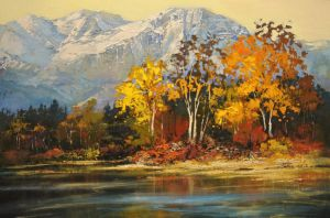 Rocky Mountain Autumn by artistwilder