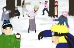 Ninja Snow Ball Fight (request) by Fanime-3