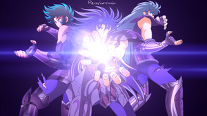 Saint Seiya - Athena Exclamation by TheWolfMonster
