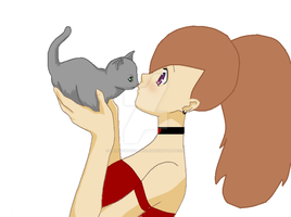 Me with a Kitten by XxRainbow-DashiexX