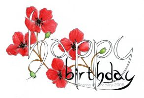 Happy Birthday_Poppies by JoannaBromley