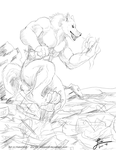 Shipstomping Sketch - Commission by KeksWolf