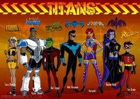 DCAU Titans by ReverendTrigster