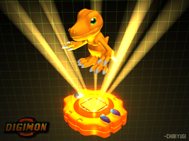 3D Agumon Background by ChibiYugi