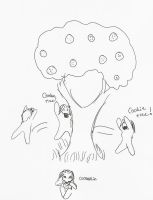 Cookie Tree and Vhen by AmaranthBlacktree