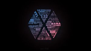 EXO Typography by dweechullie