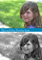 Black and White Photoshop Action for Photography by AstuePhotography