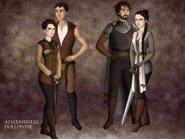 Arya and Gendry, past and future by fatlemons