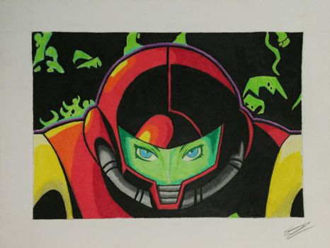 Metroid Zero Mission by BacktothePresnt