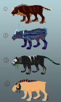 Feline adoptables - PRICE ADJUSTMENT by Seranalu