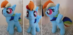 My Little Pony Custom Filly Rainbow Dash Plush by Sophillia