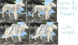 Canine and Feline FH Preset - With Wings! by jay-fruit