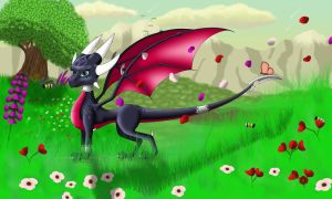 Cynder by goldenmercurydragon