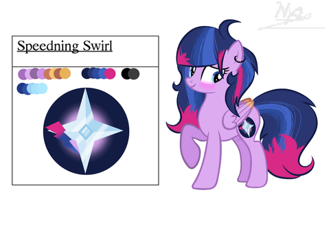 Speedning Swirl ref sheet by LoveShield