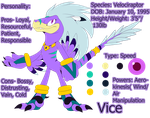 Vice the Velociraptor Reference-2015 by SEGAmastergirl