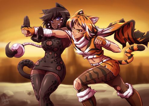 Cat Fight by Mazume